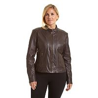 Plus Size Excelled Leather Scuba Jacket