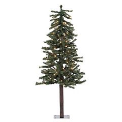Vickerman 4-ft. Pre-Lit Natural Alpine Artificial Christmas Tree