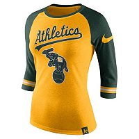Women's Nike Oakland Athletics Raglan Tee
