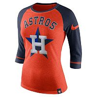 Women's Nike Houston Astros Raglan Tee