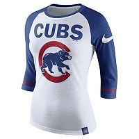 Women's Nike Chicago Cubs Raglan Tee