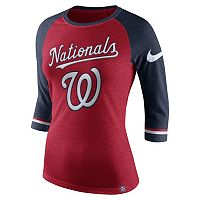 Women's Nike Washington Nationals Raglan Tee