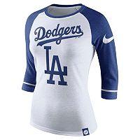 Women's Nike Los Angeles Dodgers Raglan Tee
