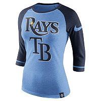 Women's Nike Tampa Bay Rays Raglan Tee