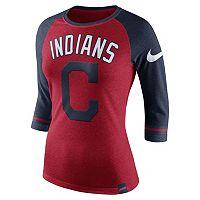 Women's Nike Cleveland Indians Raglan Tee