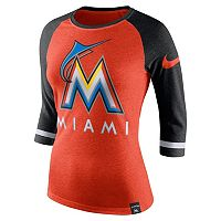Women's Nike Miami Marlins Raglan Tee