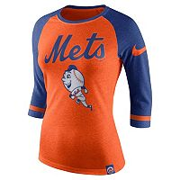 Women's Nike New York Mets Raglan Tee