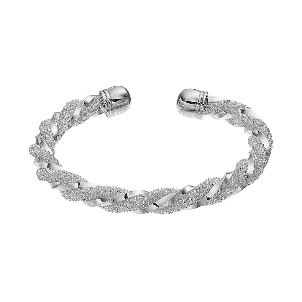Twist Mesh Cuff Bracelet