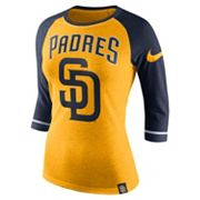 Women's Nike San Diego Padres Raglan Tee