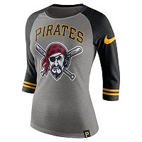 Women's Nike Pittsburgh Pirates Raglan Tee