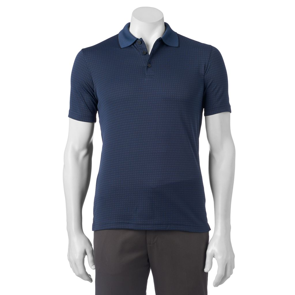 Men's Haggar In Motion Classic-Fit Diamond Performance Polo