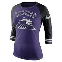 Women's Nike Colorado Rockies Raglan Tee