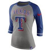 Women's Nike Texas Rangers Raglan Tee
