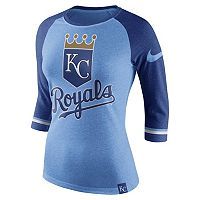 Women's Nike Kansas City Royals Raglan Tee