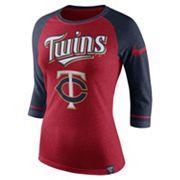Women's Nike Minnesota Twins Raglan Tee