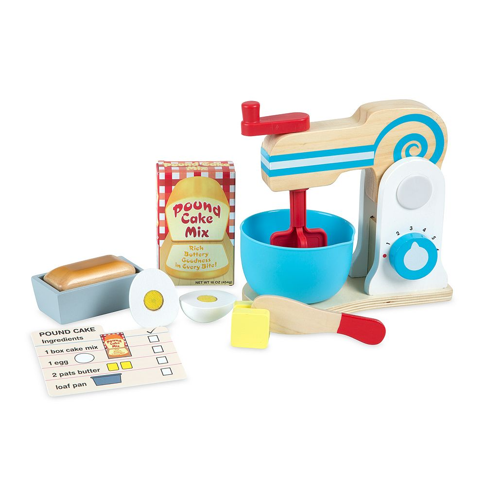 Melissa Doug Wooden Make A Cake Mixer Set