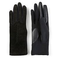 Women's Journee Collection Suede Leather Lined Tech Gloves