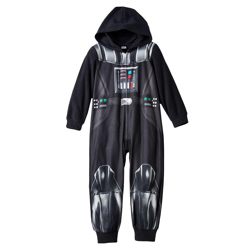 Boys 412 Star Wars Darth Vader Fleece Union Suit