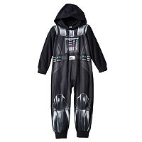 Boys 4-12 Star Wars Darth Vader Fleece Union Suit