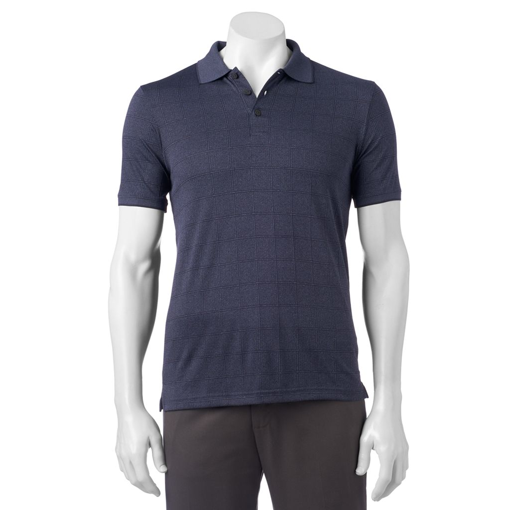 Men's Haggar In Motion Classic-Fit Square Pattern Performance Polo