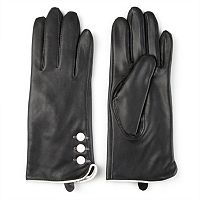 Women's Journee Collection Fleece-Lined Leather Gloves