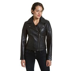 Women's Excelled Asymmetrical Leather Motorcycle Jacket