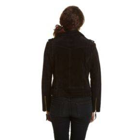 Women's Excelled Asymmetrical Suede Motorcycle Jacket