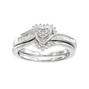 Always Yours Sterling Silver 1 4 Carat T W Diamond Square Halo