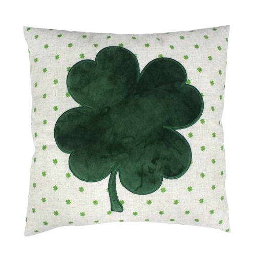 Celebrate St. Patrick's Day Together Shamrock Throw Pillow