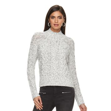 Women's Jennifer Lopez Embellished Mockneck Sweater