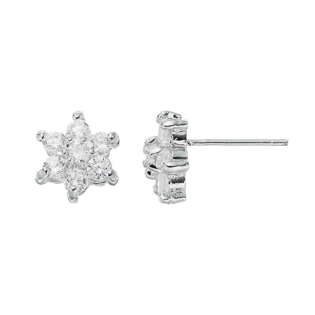 Brilliance Flower Stud Earrings with SWAROVSKI ZIRCONIA