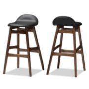 Baxton Studio Bloom Mid-Century Modern Scandinavian Bar Stool 2-piece Set