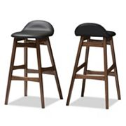 Baxton Studio Bloom Mid-Century Modern Scandinavian Bar Stool 2 pc Set