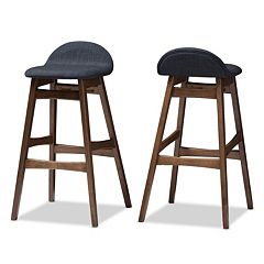 Baxton Studio Bloom Bar Stool 2-piece Set