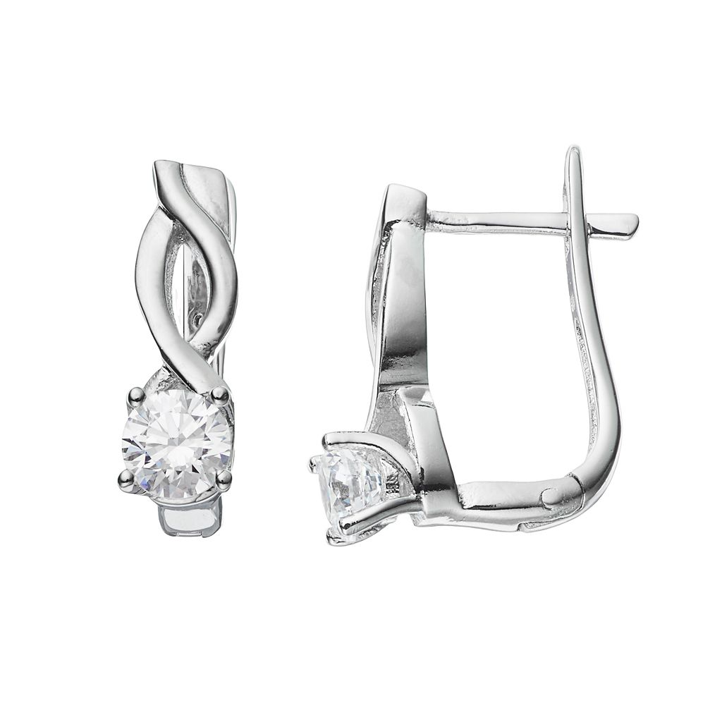 Brilliance U-Hoop Earrings with SWAROVSKI ZIRCONIA