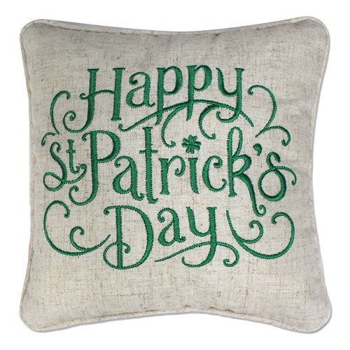 Celebrate St. Patrick's Day Together ''Happy St. Patrick's Day'' Small Throw Pillow