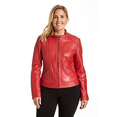 Plus Size Excelled Leather Motorcycle Jacket