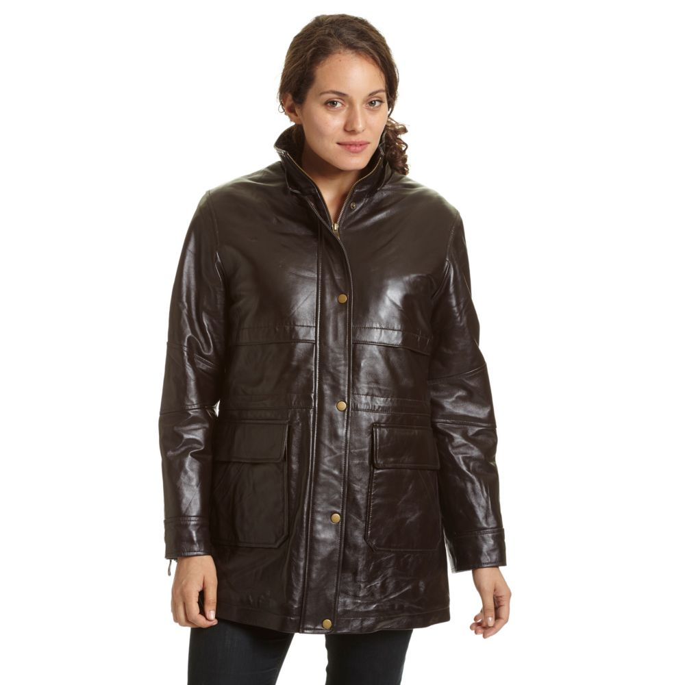 Excelled Hooded Leather Parka