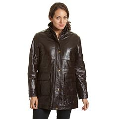 Women's Excelled Hooded Leather Parka