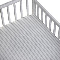 CoCaLo Voile Striped Fitted Crib Sheet