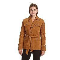 Women's Excelled Belted Suede Jacket