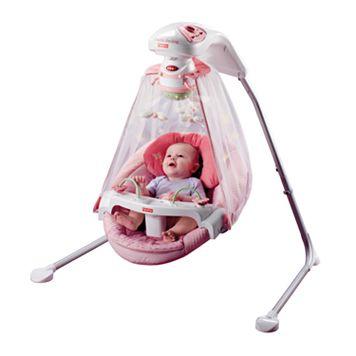 Fisher-Price Butterfly Garden Papasan Cradle Swing