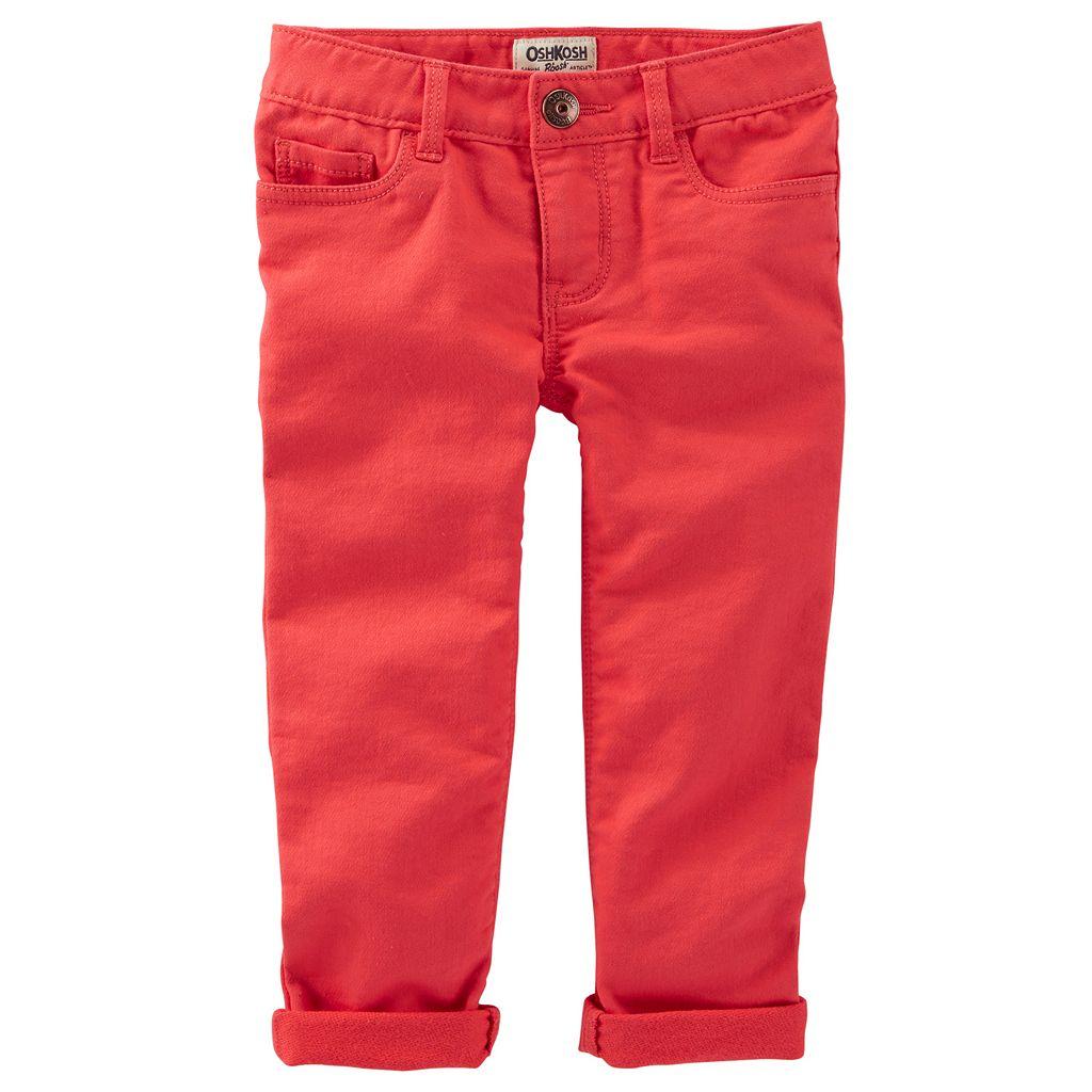 Girls 4-8 OshKosh B'gosh® Stretchy Knit Twill Pants