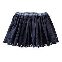 Girls 4-8 OshKosh B'gosh® Chambray Waist Eyelet Skirt