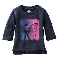Girls 4-8 OshKosh B'gosh® 3/4-Length Sleeve Inspirational Quote Tee