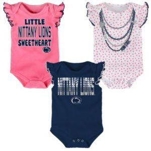 Baby Penn State Nittany Lions Polka Fan 3-Piece Bodysuit Set