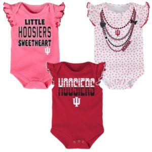 Baby Indiana Hoosiers Polka Fan 3-Piece Bodysuit Set