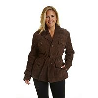 Plus Size Excelled Belted Suede Jacket