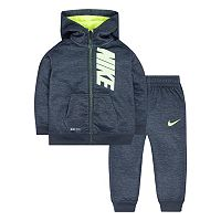 Baby Boy Nike Therma-FIT Space-Dyed Fleece Hoodie & Pants Set