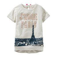 Girls 4-8 OshKosh B'gosh® Short Sleeve Rolled-Cuff Graphic Tunic